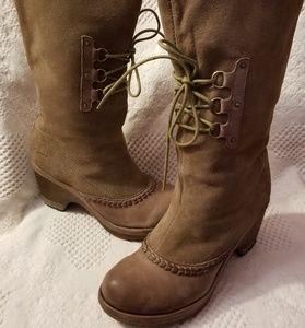 Jambu Shoes - Jambu Riviera boots 6.5 M taupe suede clog heel ee53f0e07e931